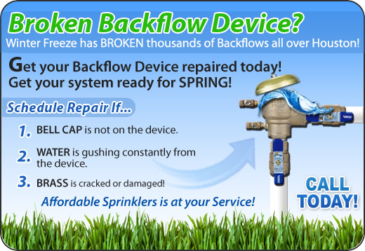 Houston Back Flow Repair, Installation, Certification and Testing Specialist